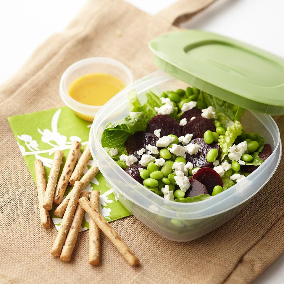 <p>A tropical mango vinaigrette dressing adds sweetness to this healthy lunch salad.</p>