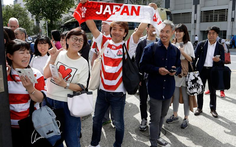 Japan will have the support of a whole nation when they take on South Africa - AP