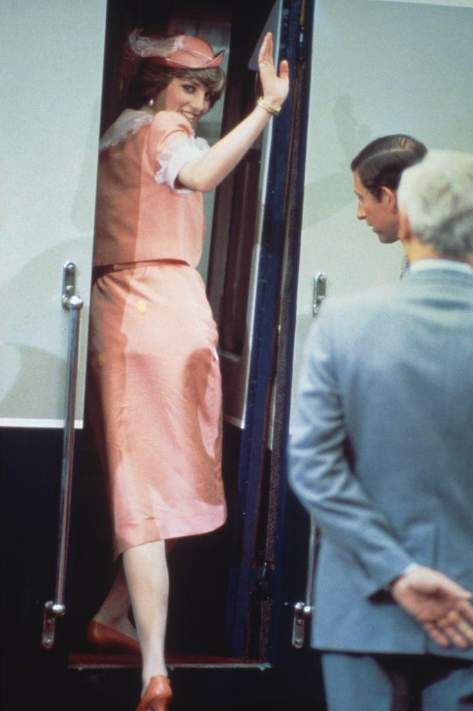 """<p>The famous pink suit that Diana left for her honeymoon wearing in 1981 almost never made it into the royal's closet—in fact, she was turned away from the store the first time she tried to shop for it. <a href=""""https://www.townandcountrymag.com/society/tradition/a36621200/princess-diana-honeymoon-outfit/"""" rel=""""nofollow noopener"""" target=""""_blank"""" data-ylk=""""slk:Read the full story of how the look came to be here"""" class=""""link rapid-noclick-resp"""">Read the full story of how the look came to be here</a>. </p>"""