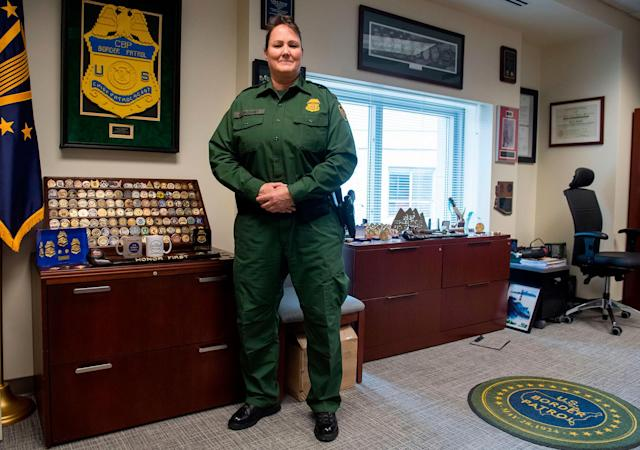 <p>Carla Provost, acting chief of the U.S. Border Patrol, in her office at U.S. Border Patrol Headquarters in Washington, D.C., on March 7, 2018. (Photo: Saul Loeb/AFP/Getty Images) </p>