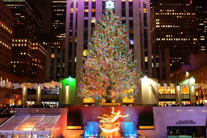 New York, l'albero di Natale del Rockefeller Center