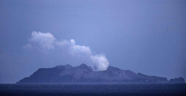 PHOTO: Smoke and ash rises from a volcano on White Island Dec. 9, 2019 in Whakatane, New Zealand. (John Boren/Getty Images)