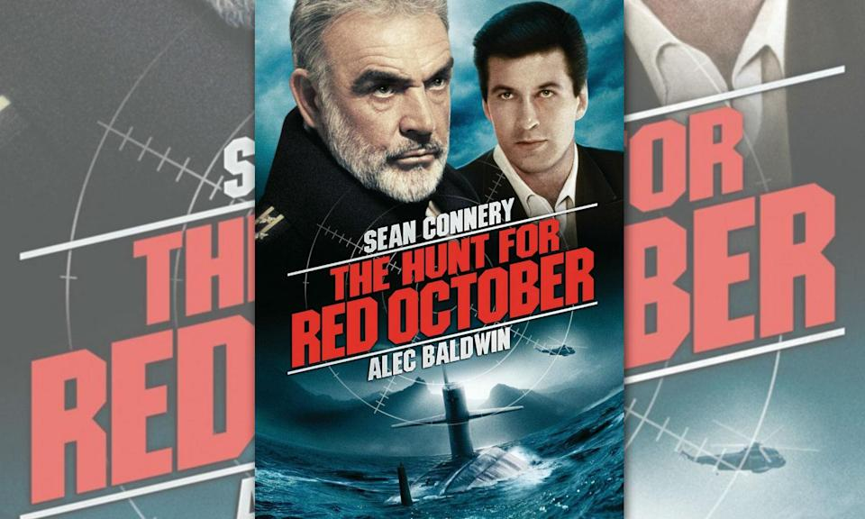 <p>Alec Baldwin was the original Jack Ryan in this film adaptation based on Clancys's first Ryan novel of the same name. Set in late Cold War era, a Soviet submarine captain tries to defect to the US with his crew and the Soviet Navy's latest nuclear missile submarine and it's up to Ryan, who deduced this was his motive, to stop a violent confrontation between US and Soviet forces. </p>