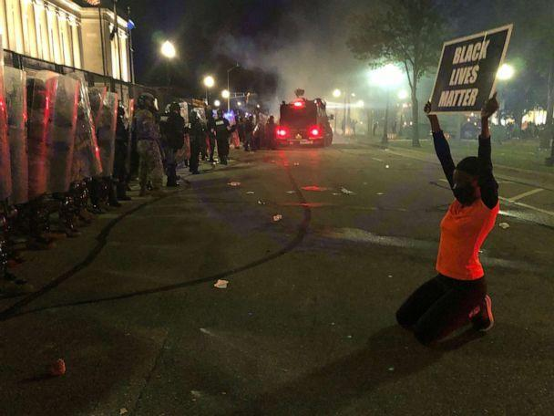 PHOTO: Porche Bennett-Bey protests peacefully in Kenosha, Wisc., on Aug. 25, 2020, while being tear-gassed and nearly hit with fireworks. (Milwaukee Journal Sentinel via USA Today Network, FILE)