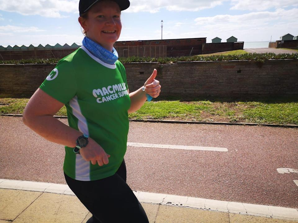 Louise Bartha is running for Macmillan after benefiting from the vital support the charity provides (Louise Bartha/PA)
