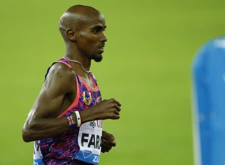 Mo Farah in action. REUTERS/Denis Balibouse