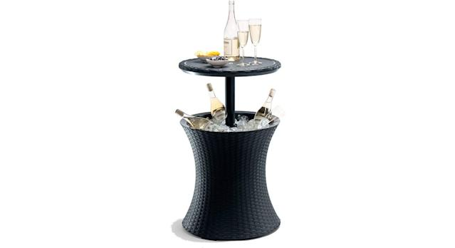 Rattan Outdoor Cool Bar Ice Cooler Table