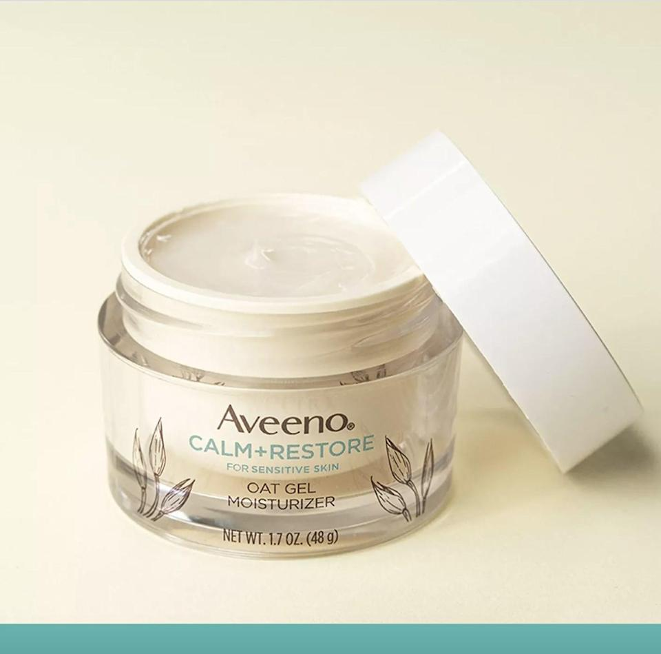 <p>If you have dry, irritated skin, it could be because your moisture barrier is impaired. Try the <span>Aveeno Calm and Restore Oat Gel Moisturizer - Unscented</span> ($18) to get your skin back to normal.</p>