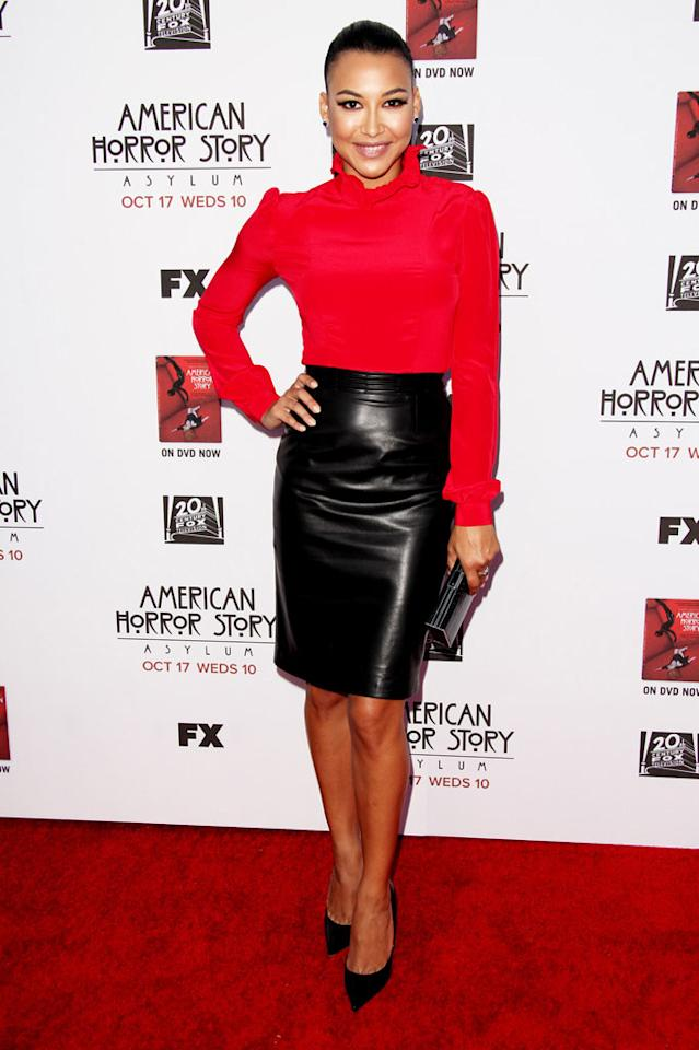 """Naya Rivera attends the """"American Horror Story: Asylum"""" premiere held at Paramount Studios on October 13, 2012 in Hollywood, California."""