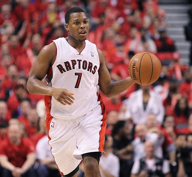 TORONTO, ON - MAY 4: Kyle Lowry #7 of the Toronto Raptors plays against the Brooklyn Nets in Game Seven of the NBA Eastern Conference Quarterfinals at the Air Canada Centre on May 4, 2014 in Toronto, Ontario, Canada. The Nets defeated the Raptors 104-103 to win the series 4-3. (Photo by Claus Andersen/Getty Images)