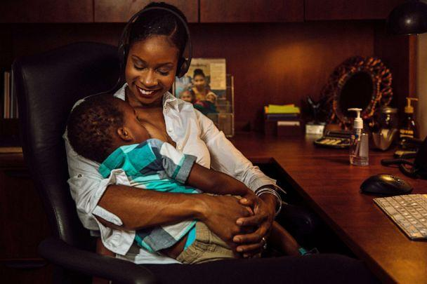 PHOTO: Malikah Garner, of Detroit, Michigan, is photographed breastfeeding her youngest son. (Courtesy of the W.K. Kellogg Foundation)