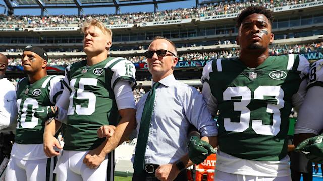 After the NFL owners voted on an anthem policy requiring players to stand when on the field, Jets chairman Christopher Johnson said he will pay any fines for players who choose not to stand, according to Newsday.