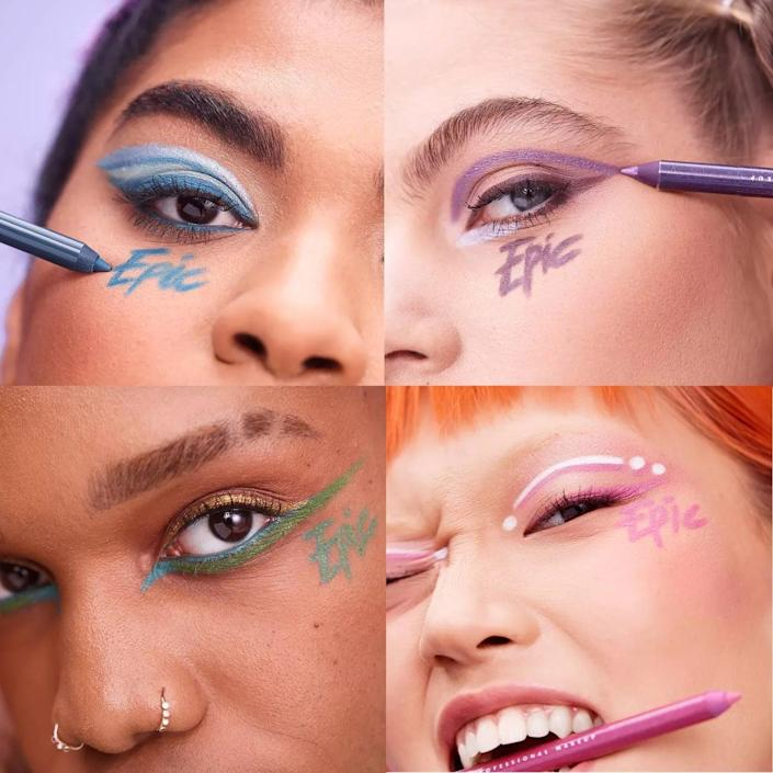 <p>NYX's Pride 2021 collection is dedicated to the underground ballroom community. There's nothing more bold and dramatic than colorful eyeliner like the <span>NYX Professional Makeup Epic Wear Liner Stick - Long-lasting Eyeliner Pencil - Pride Edition</span> ($8) and a glowing highlight like the <span>Born To Glow Icy Highlighter Duo</span> ($12). NYX has also made a donation to the Los Angeles LGBT Center.</p>