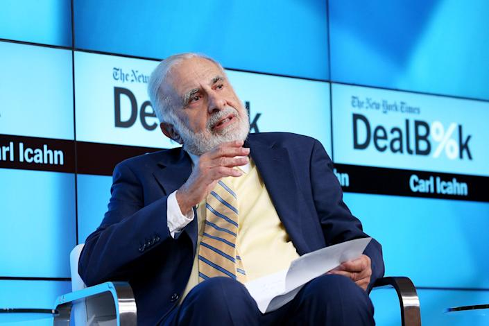 <p>Billionaire investor Carl Icahn defends not paying federal income taxes for several years</p> (Getty Images for New York Times)