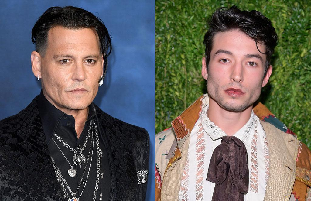 Johnny Depp and Ezra Miller. (Photo: Getty Images)
