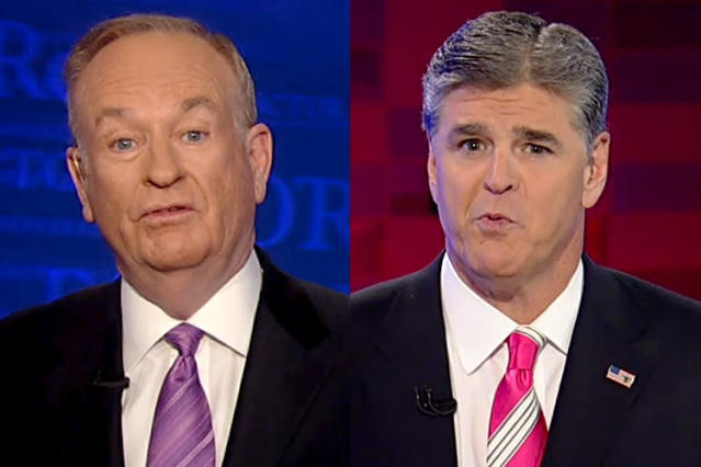 Bill O'Reilly, Sean Hannity