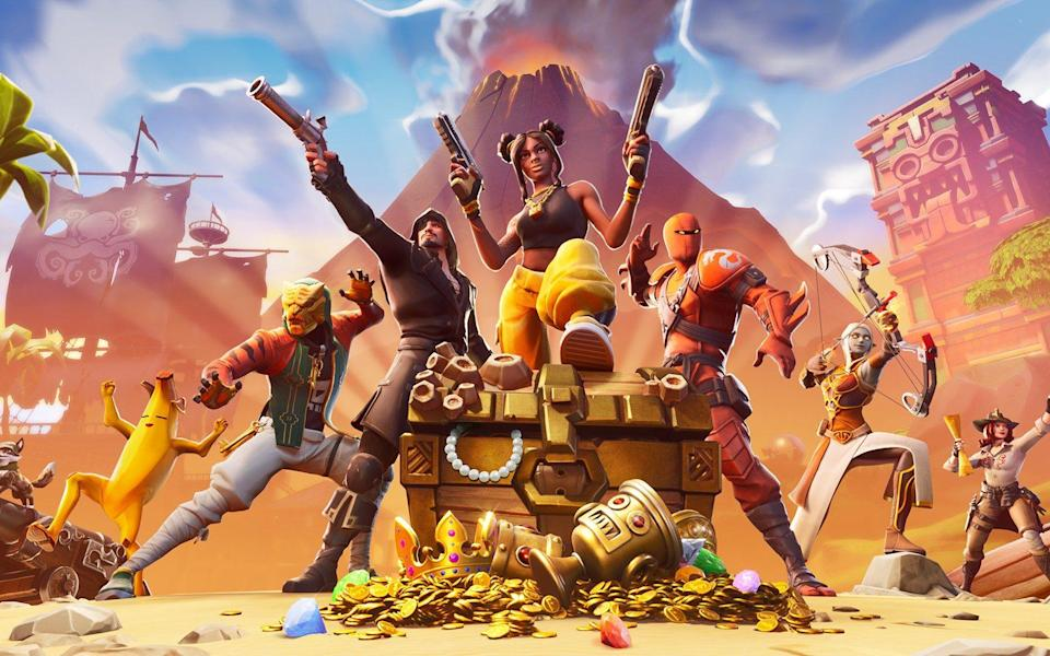 The developer behind Fortnite (pictured) has acquired a British technology start-up - Epic Games