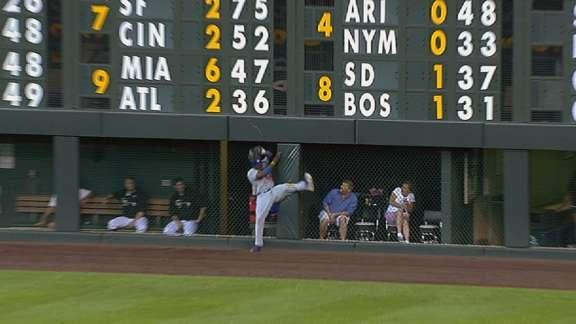 Yasiel Puig suffers bruised left hip in collision with Coors Field wall