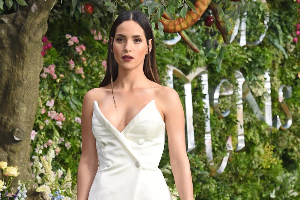 """LONDON, ENGLAND - MAY 28:   Adria Arjona attends the World Premiere of new Amazon Original """"Good Omens"""" at the Odeon Luxe Leicester Square on May 28, 2019 in London, England.  (Photo by David M. Benett/Dave Benett/WireImage)"""