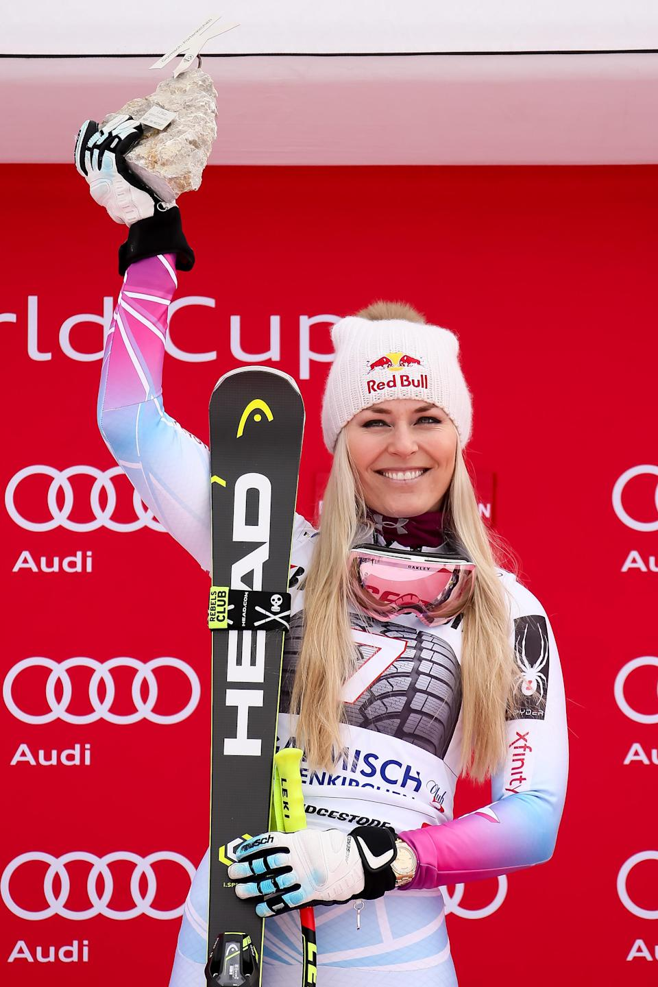 <p>At 33 years old, Vonn has won 78 World Cup races, more than any other female in history. </p>