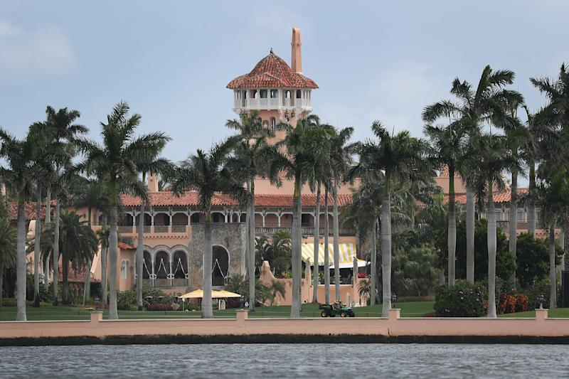 The event at Trump's Mar-a-Lago resort that Zhang said she was there to attend had been canceled before she left for the U.S., prosecutors said. (Joe Raedle via Getty Images)