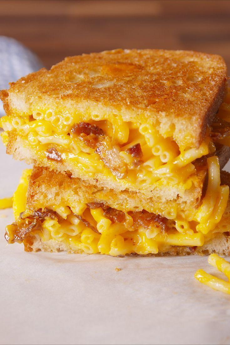 """<p>Carb so hard.</p><p>Get the <a href=""""https://www.delish.com/uk/cooking/recipes/a28831560/mac-cheese-grilled-cheese-recipe/"""" rel=""""nofollow noopener"""" target=""""_blank"""" data-ylk=""""slk:Mac & Cheese Toastie"""" class=""""link rapid-noclick-resp"""">Mac & Cheese Toastie</a> recipe.</p>"""