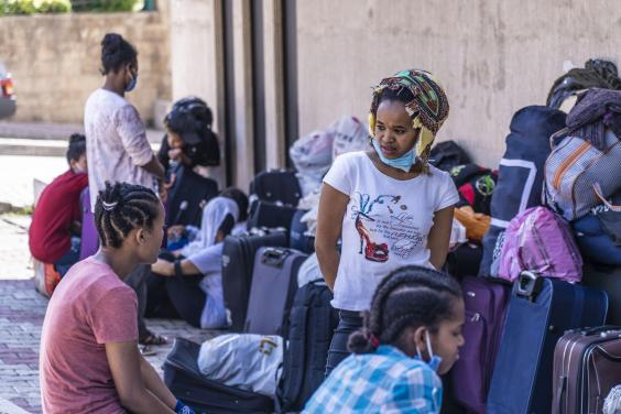 Ethiopian domestic workers sleeping rough outside their embassy in Beirut say some haven't been paid in a year (Bel Trew)