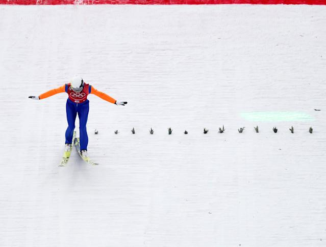"Nordic Combined Events - Pyeongchang 2018 Winter Olympics - Men's Team Gundersen LH Competition - Alpensia Ski Jumping Centre - Pyeongchang, South Korea - February 22, 2018 - Ilkka Herola of Finland competes. REUTERS/Kai Pfaffenbach SEARCH ""OLYMPICS BEST"" FOR ALL PICTURES. TPX IMAGES OF THE DAY."