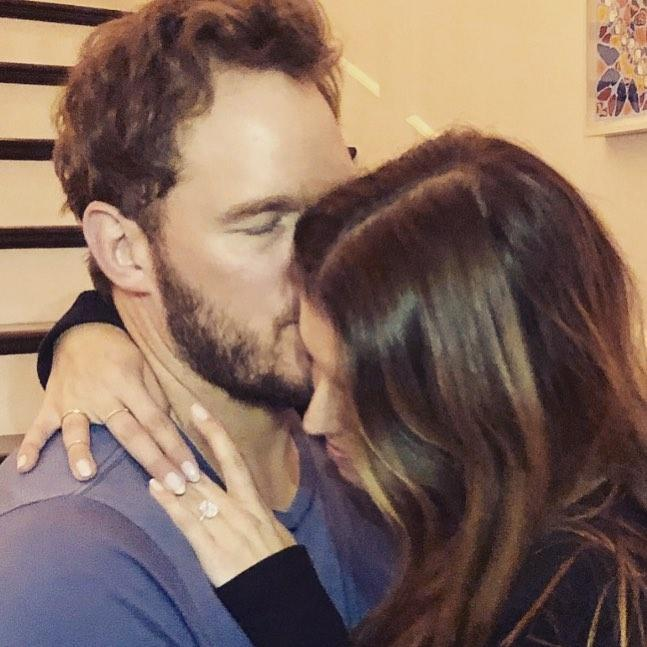 Chris Pratt and Katherine Schwarzenegger following engagement news