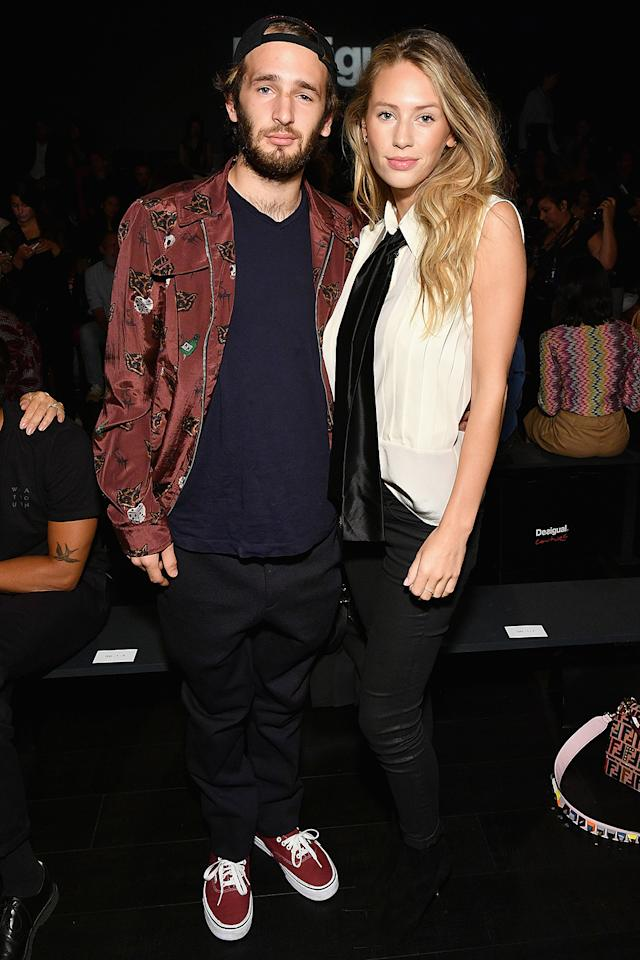 <p>There's something familiar about the actors, as there should be. Dylan, 26, and Hopper, 24, who sat front row at the Desigual show during New York Fashion Week, are the offspring of Sean Penn and Robin Wright. (Photo: Dia Dipasupil/Getty Images) </p>