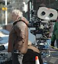 <p>The creator of The Sopranos, David Chase, stands next to the cameras, as he watches a scene unfold.</p>