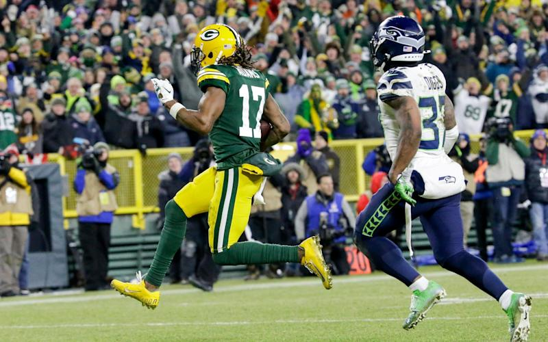 Davante Adams is pretty much the Packers' sole weapon; no other Packers wide receiver had more than one catch - FR155603 AP