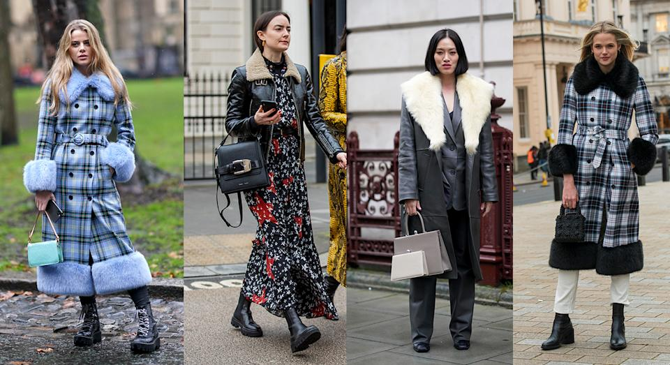 Rise in faux fur trim coats after Fashion Week