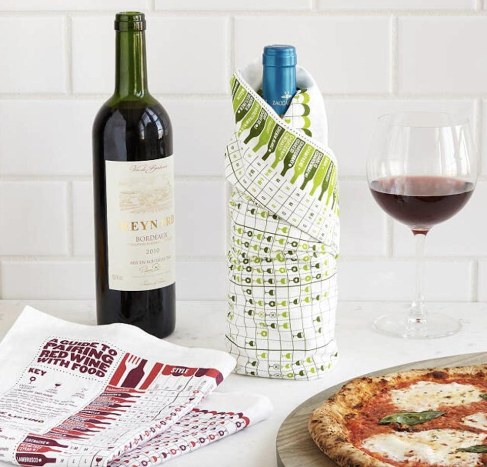 <p> Not only is this <span>Wine Pairing Towel Set</span> ($28) useful, but it's also fun to look at. It's filled with ideas as it covers 68 popular wines and 56 different foods.</p>