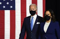 Democratic US presidential nominee Joe Biden and his newly named running mate Kamala Harris appeared for the first time on their quest to oust President Donald Trump from the White House in the November 3, 2020 election