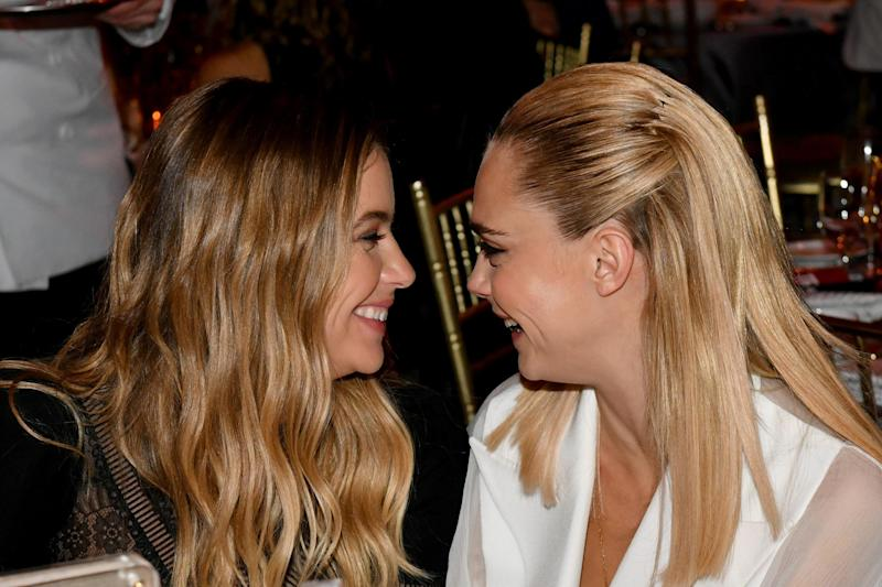Cara Delevingne (right) with Ashley Benson (Getty Images)