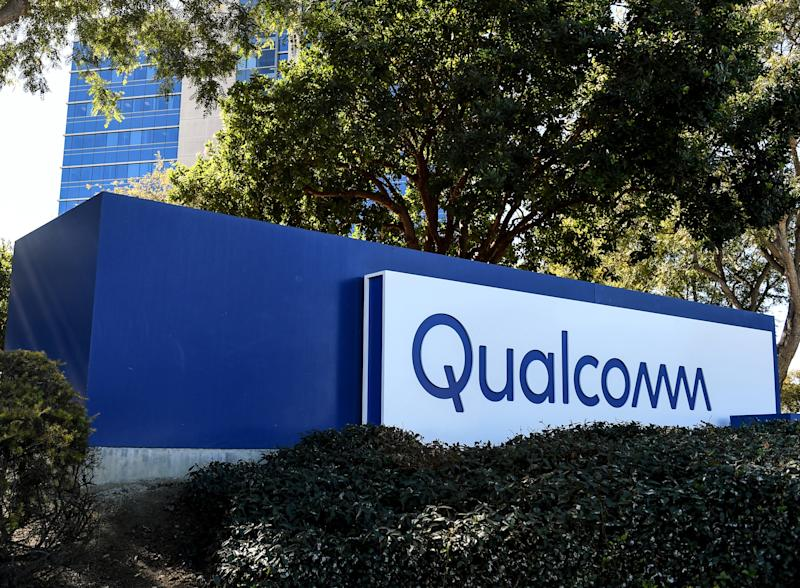 Qualcomm sign outside of company headquarters