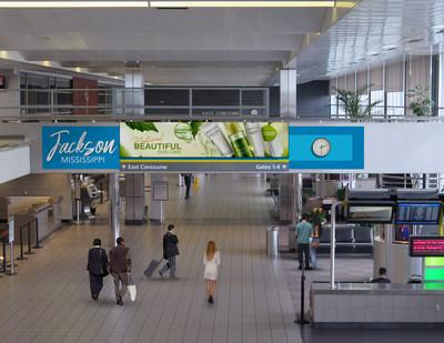 Clear Channel Airports will install new media at Jackson-Medgar Wiley Evers International Airport, which includes a themed digital network in baggage claim among other assets.