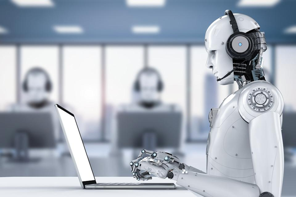 <p>Robot workers: Blue Prism's AI takes over dull admin tasks</p> (Shutterstock)