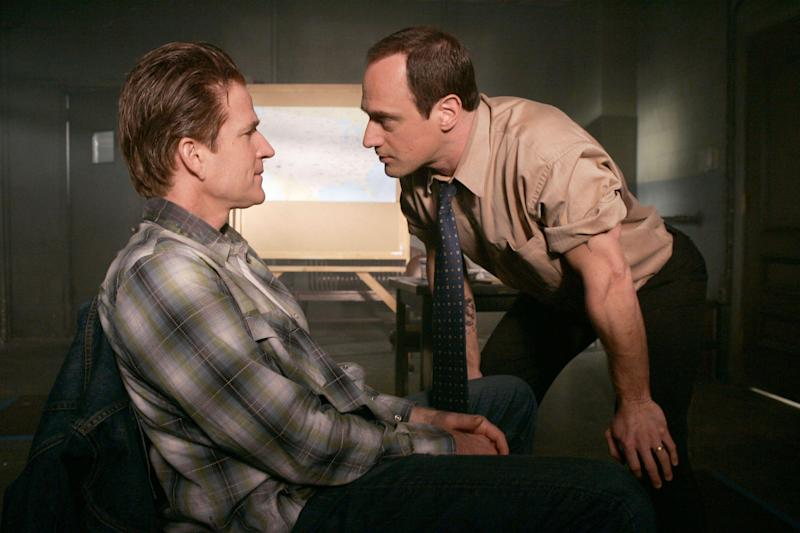 Christopher Meloni, right, in Law & Order: SVU