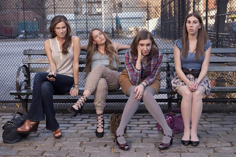 The cast ofGirls   Apatow Productions/REX/Shutterstock