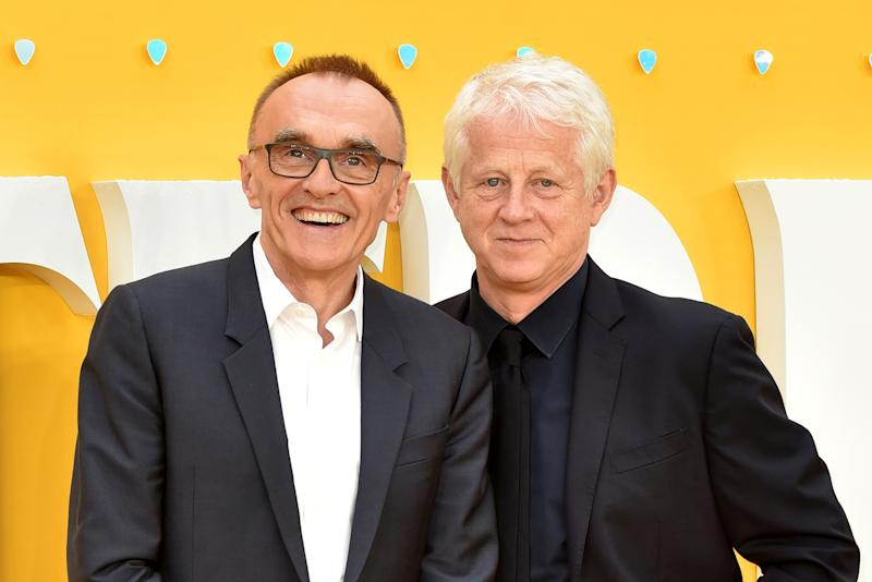 ODEON LUXE LEICESTER SQUARE, LONDON, UNITED KINGDOM - 2019/06/18: Danny Boyle and Richard Curtis attend the UK Premiere of 'Yesterday' at the Odeon Luxe in Leicester Square, London, England. (Photo by James Warren/SOPA Images/LightRocket via Getty Images)