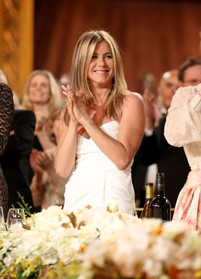 """Jennifer Aniston accepted Justin Theroux's marriage proposal on one condition — that he sign an iron-clad prenuptial agreement,"" reveals the <i>National Enquirer</i>. The mag notes Aniston's ""leaving nothing to chance,"" and is ""working feverishly with her lawyers to hash out the pre-nup."" For what the sticking points are, and why she's rushing to wrap it up, see what an Aniston friends leaks to <a target=""_blank"" href=""http://www.gossipcop.com/jennifer-aniston-prenup-justin-theroux-prenuptial-agreement-adopting-adoption/"">Gossip Cop</a>."