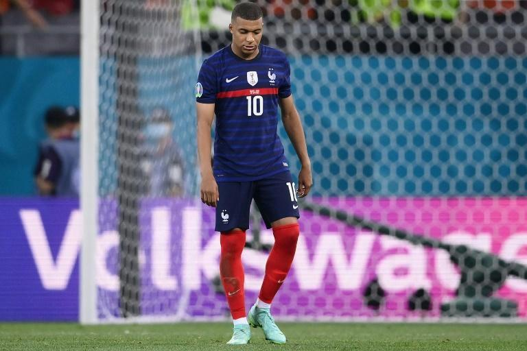 Coming home: Mbappe's miserable tournament ended with a penalty miss