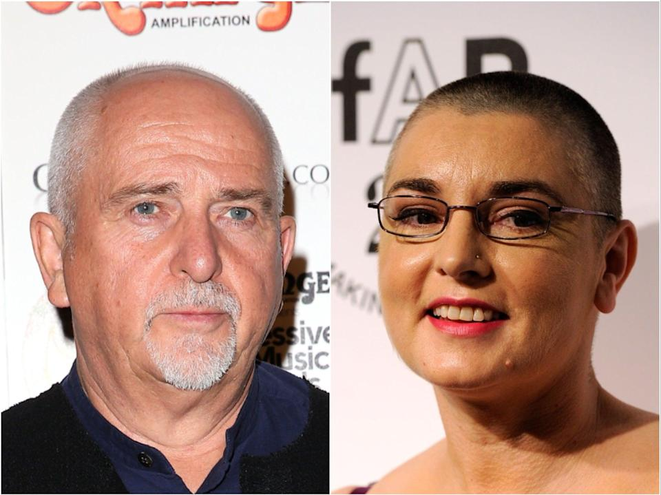 <p>Peter Gabriel (left) and Sinead O'Connor (right)</p> (Getty)
