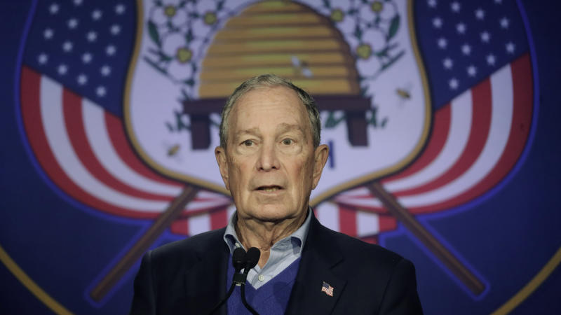 Democratic presidential candidate Mike Bloomberg speaks during a rally Saturday, Jan. 18, 2020, in Salt Lake City. (AP Photo/Rick Bowmer)