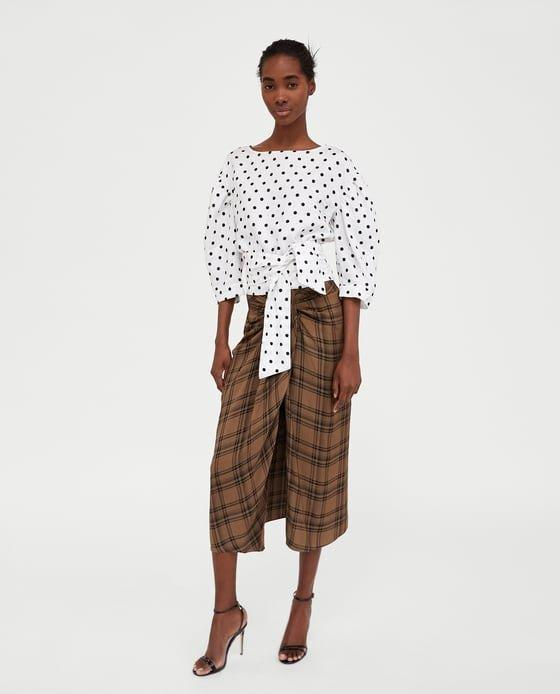 "Zara's $89.90 ""check mini skirt,"" aka lungi look-alike. (Zara)"
