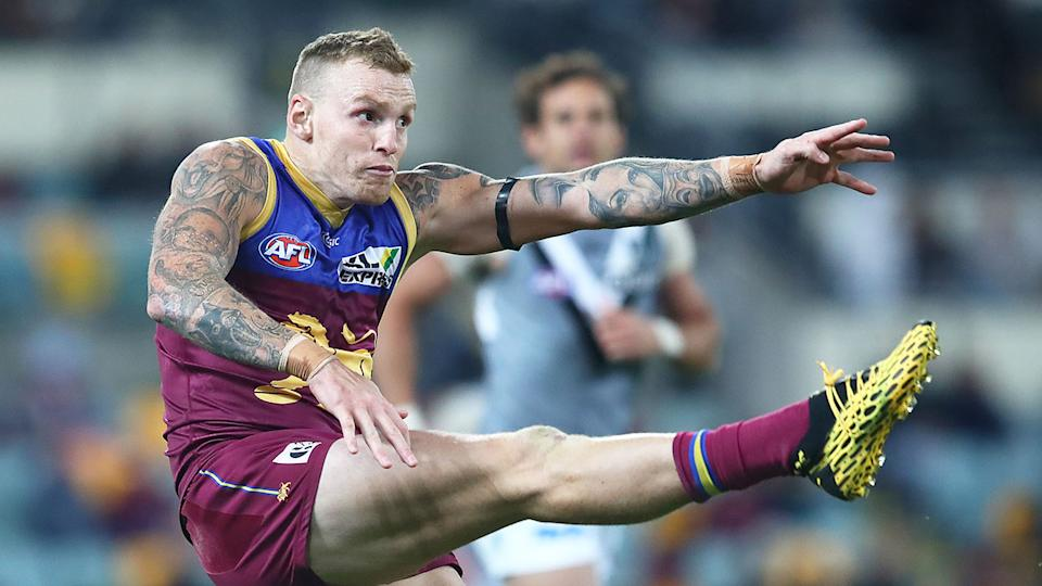 Mitch Robinson is seen here playing for the Brisbane Lions in the AFL.