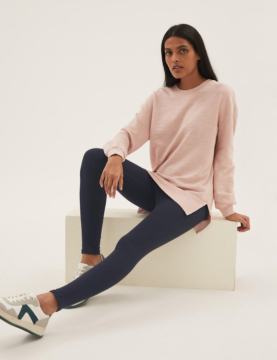 They come in four hues: navy, khaki, black and grey. (Marks & Spencer)