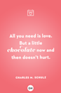 <p>All you need is love. But a little chocolate now and then doesn't hurt.</p>